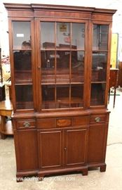 One of Several Mahogany China Cabinets  Located Inside – Auction Estimate $100-$300