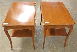 PAIR of SOLID Cherry End Tables  Located Inside – Auction Estimate $50-$100