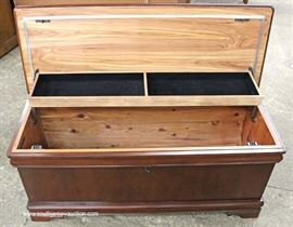 "Burl Mahogany Contemporary Cedar Chest by ""Powell Furniture""  Located Inside – Auction Estimate $100-$200"