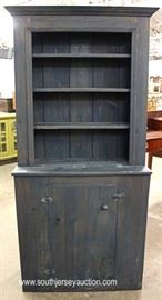 Antique Style Country Step Back Cupboard in the Gray Wash Finish  Located Inside – Auction Estimate $100-$300