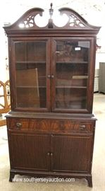 One of Several Mahogany China Cabinets  Located Inside – Auction Estimate $100-$200