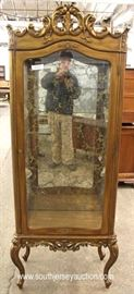 Italian Mirrored Back Carved Crystal Cabinet  Located Inside – Auction Estimate $100-$300