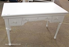 NEW Contemporary White Painted Desk  Located Inside – Auction Estimate $100-$300