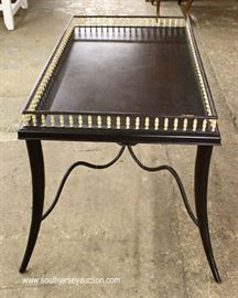 HIGH END Metal Base Spindle Gallery Tea Table with Original Tag  Located Inside – Auction Estimate $100-$300