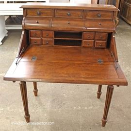 Contemporary Mahogany Inlaid Slant Front Desk  Located Inside – Auction Estimate $100-$300