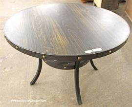 "NEW 4 Piece Industrial Style 48"" Breakfast Table and 3 Chairs  Located Inside – Auction Estimate $200-$400"