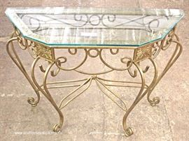 Iron and Glass Decorator Console  Located Inside – Auction Estimate $100-$300
