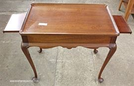 "SOLID Mahogany Queen Anne Tea Table by ""Biggs Furniture""  Located Inside – Auction Estimate $100-$200"