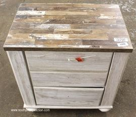 Brand New – Unused – Hardware in Drawers  Country Style NEW 3 Drawer Night Stand  Located Inside – Auction Estimate $50-$100
