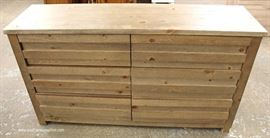 NEW 6 Drawer Country Style Low Chest in the Natural Finish  Located Inside – Auction Estimate $100-$300