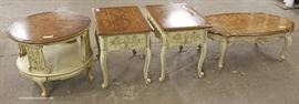 "Selection of Country French Style Burl Walnut Tops Tables by ""Weiman Furniture""  Located Inside – Auction Estimate $100-$300"