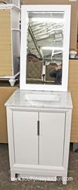 "NEW Bathroom Vanity with Marble Top 24"" Vanity and Mirror  Located Inside – Auction Estimate $100-$300"