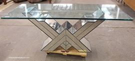 Ultra-Modern Mirrored Glass Top Decorator Console  Located Inside – Auction Estimate $200-$400