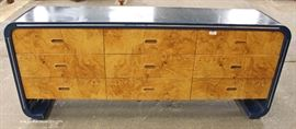 Mid Century Burl Maple 9 Drawer Chest attributed to Philip Daniels  Located Inside – Auction Estimate $200-$400