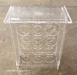 Mid Century Lucite Wine Rack  Located Inside – Auction Estimate $100-$200