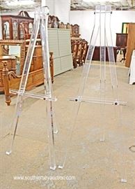 RARE PAIR of Mid Century Lucite Easels  Located Inside – Auction Estimate $300-$600