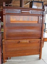 Selection of ANTIQUE Victorian Walnut High Back Beds  Located Inside – Auction Estimate $100-$300