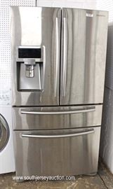 Stainless Steel Samsung French Door Dual Cooling Refrigerator – Working – Needs Cleaning  Located Inside – Auction Estimate $500-$1000