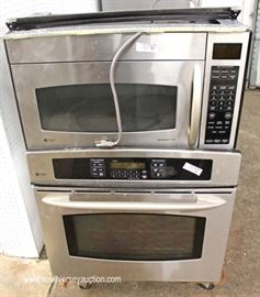 GE Profile Stainless Steel Front Dishwasher, Gas Stove Top, Oven and Microwave  Will be Offered Separate  Located Inside – Auction Estimate $400-$800