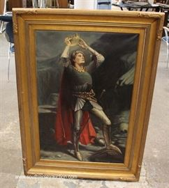 19th Century Oil on Canvas  Located Inside – Auction Estimate $100-$200