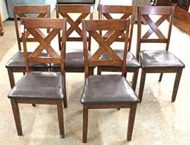 NEW 7 Piece Kitchen Set in the Mahogany Finish Table with 6 Chairs  Located Inside – Auction Estimate $200-$400
