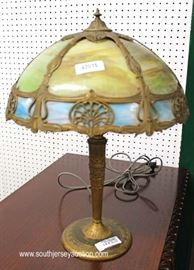 zaIMG 3562 auction Selection of Lead Glass, Panel and Reverse Painted Table Lamps  Located Inside – Auction Estimate $50-$400 Each