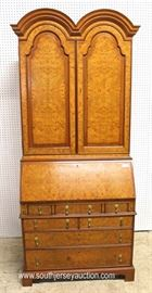 2 Piece Burl Walnut Blind Door Secretary with Full Fitted Interior  Located Inside – Auction Estimate $300-$600