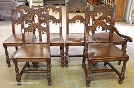 "'Set of 6' SOLID Oak Depression Carved Dining Room Chairs by ""Sligh Furniture""  Located Inside – Auction Estimate $300-$600"