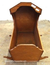 ANTIQUE Walnut Cradle  Located Inside – Auction Estimate $100-$200
