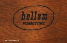 "Burl Mahogany Inlaid High Chest and Low Chest by ""Hellam Furniture""  Located Inside – Auction Estimate $300-$600"