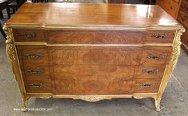 Burl Walnut Painted Frame French Style Low Chest  Located Inside – Auction Estimate $100-$300