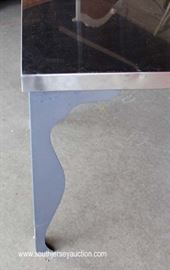 Modern Design Stainless Steel Kitchen Table  Located Dock – Auction Estimate $100-$300