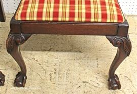 'Set of 6' SOLID Mahogany Chippendale Style Ball and Claw Dining Room Chairs  Located Inside – Auction Estimate $300-$600