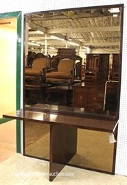 "2 Piece Decorator Console with Mirror by ""Henredon Furniture"" with Original Tags  Located Inside – Auction Estimate $400-$800"