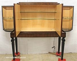"QUALITY Rosewood 4 Door Lighted BAR by ""Henredon Furniture"" with Original Tags  Located Inside – Auction Estimate $500-$1000"