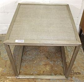Slate Grey Decorator Open End Table wit Original Tag  Located Inside – Auction Estimate $100-$200