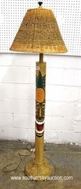 UNUSUAL Tiki Head Pole Lamp  Located Inside – Auction Estimate $100-$300