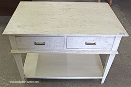 Toasted Almond Egg 2 Drawer Decorator Console Table with Original Tags  Located Inside – Auction Estimate $100-$300