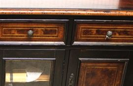 "Burl Walnut Credenza Cabinet by ""Hooker Furniture"" with Original Tags  Located Inside – Auction Estimate $500-$1000"