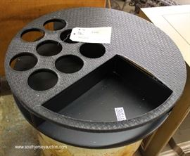 QUALITY Wine Lazy Susan Spinning BAR in Immitation Leather with Original Tags  Located Inside – Auction Estimate $50-$100
