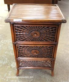 Mahogany 2 Drawer Faux Bamboo Style Night Stand  Located Inside – Auction Estimate $100-$300