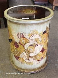 Circular Paint Decorated Mirror Top BAR  Located Inside – Auction Estimate $100-$200
