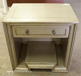 "Modern Distressed One Drawer Table by ""Habersham Furniture"" with Original Tags  Located Inside – Auction Estimate $200-$400"