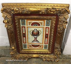 Highly Carved Framed Artwork  Located Inside – Auction Estimate $100-$200