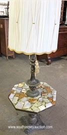 VINTAGE Onyx Mosaic Octagon Table Lamp with Original Shade  Located Inside – Auction Estimate $100-$300