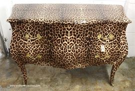 Leopard Print Style 2 Drawer Decorator Chest  Located Inside – Auction Estimate $200-$400