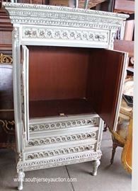 French Style VINTAGE Paint Decorated Gentlemen's Chest  Located Dock – Auction Estimate $100-$300