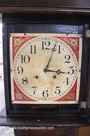 Mahogany Tall Case Grandfather Clock with Weights and Pendulum  Located Inside – Auction Estimate $100-$300