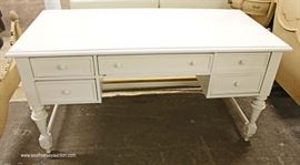 White Contemporary Decorator 5 Drawer Desk  Located Inside – Auction Estimate $100-$300