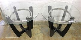 3 Piece Contemporary Modern Design Glass Top Living Room Table Set  Located Inside – Auction Estimate $100-$300